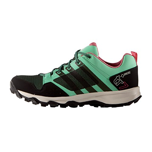 adidas Damen Kanadia 7 TR GTX Traillaufschuhe, Grün (Green Glow S16/Blanch Green S16-St/Super Blush S16), 38 2/3 EU